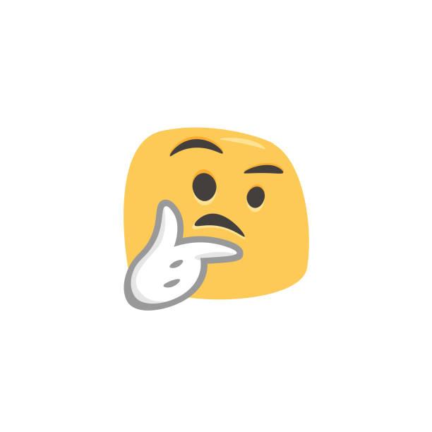 ilustraciones, imágenes clip art, dibujos animados e iconos de stock de emoji dibujado a mano dibujos animados y estilo colorido - emoji confundido