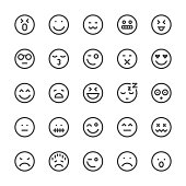 Emoji Icon Icons - MediumX Line Vector EPS File.
