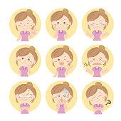 Vector material of Facial expressions