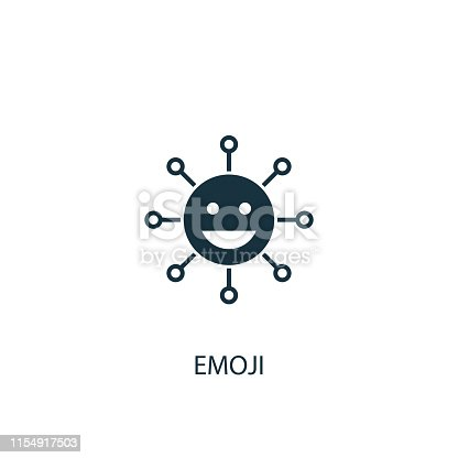 emoji icon. Simple element illustration. emoji concept symbol design from message collection. Can be used for web and mobile.