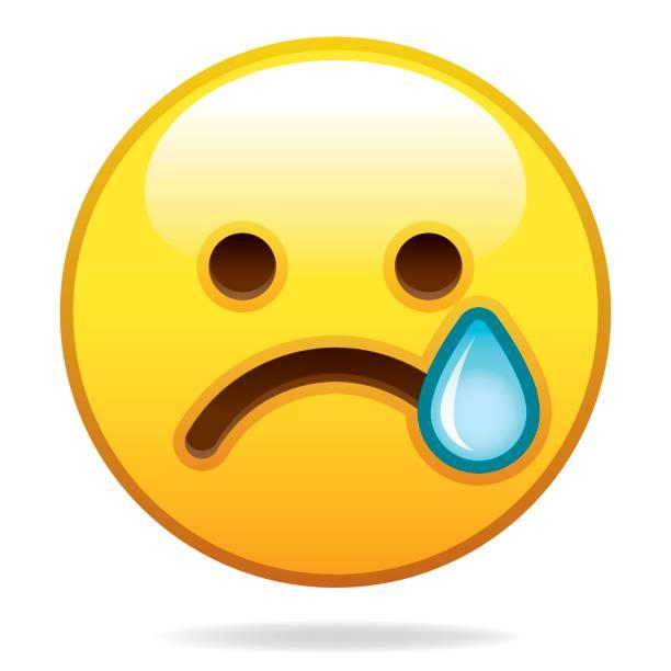 emoji-symbol - trauriges emoji stock-grafiken, -clipart, -cartoons und -symbole