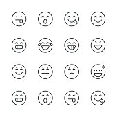 Emoji Icons set 2 | Black Line series