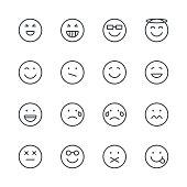 Emoji Icons set 3 | Black Line series