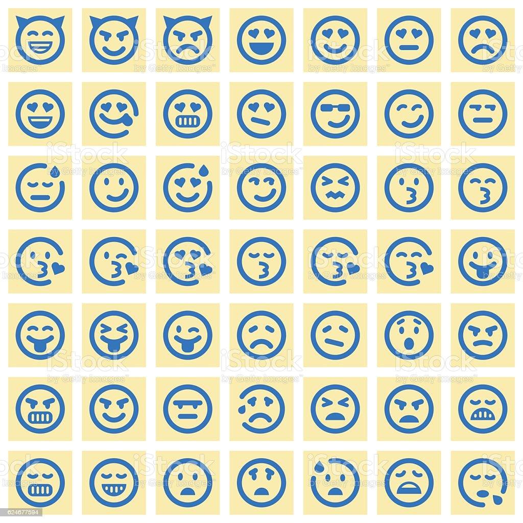 Emoji icons - ilustración de arte vectorial