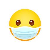 istock Emoji in face mask 1218431320