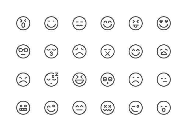 Emoji - Line Icons vector art illustration
