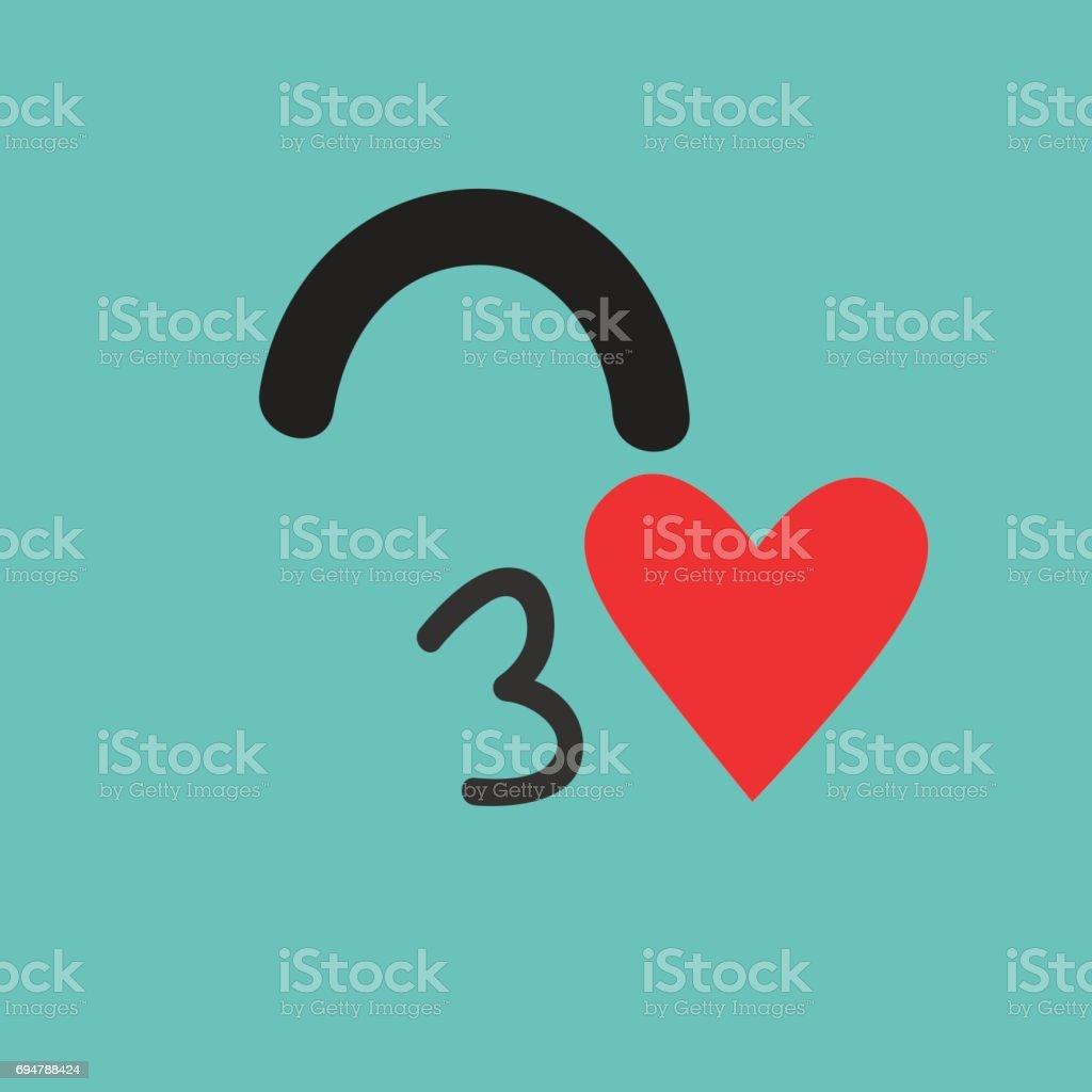 Emoji monster in love. Cute cyclops vector illustration vector art illustration