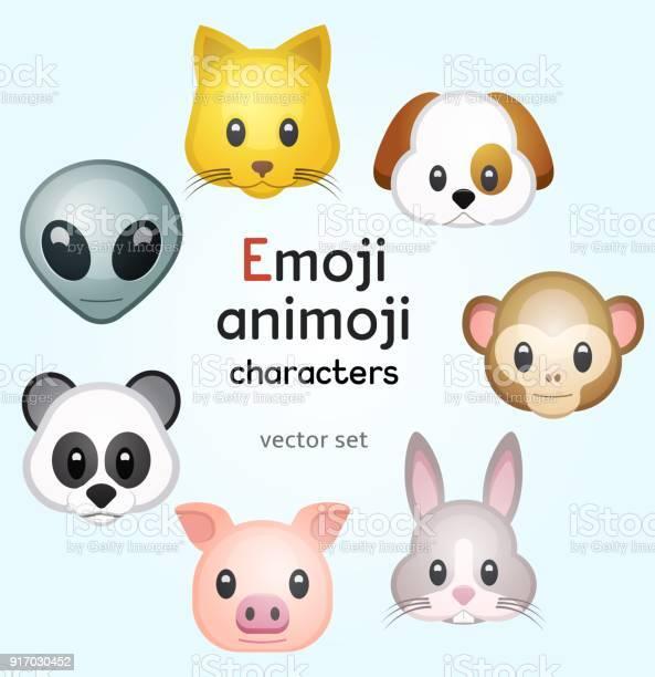 Emoji or animoji animal characters vector id917030452?b=1&k=6&m=917030452&s=612x612&h=gxw5vndk3lnrrdjjydlz9qsjrgpznxfqisbei6mwwlo=