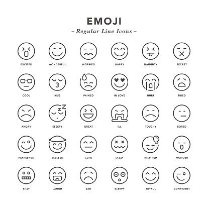 Emoji - Regular Line Icons