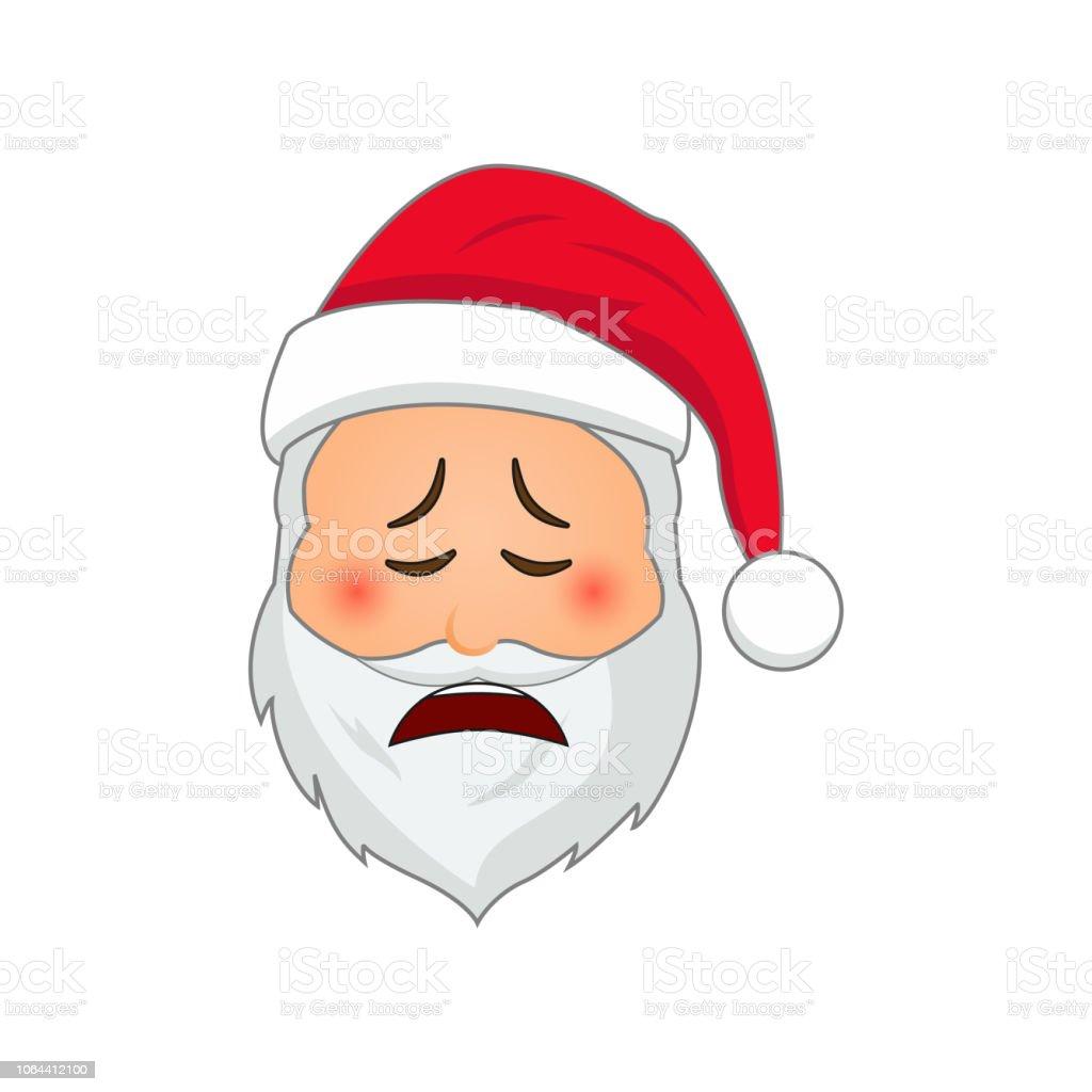 emoji santa claus winter urlaub emoticon santa clause in weinende  emojisymbol stock vektor art und mehr bilder von alt - istock  istock