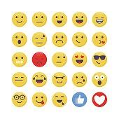 Vector illustration of a set of emoji
