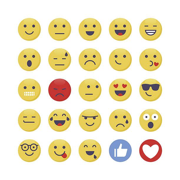 emoji set 1 - confused emoji stock illustrations, clip art, cartoons, & icons