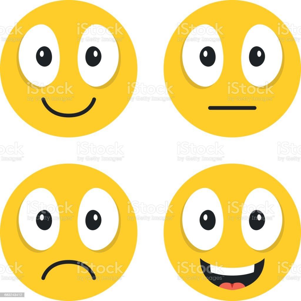 Emoji set cute emoticons happy sad neutral laughing emoji cartoon emoji set cute emoticons happy sad neutral laughing emoji cartoon voltagebd Images