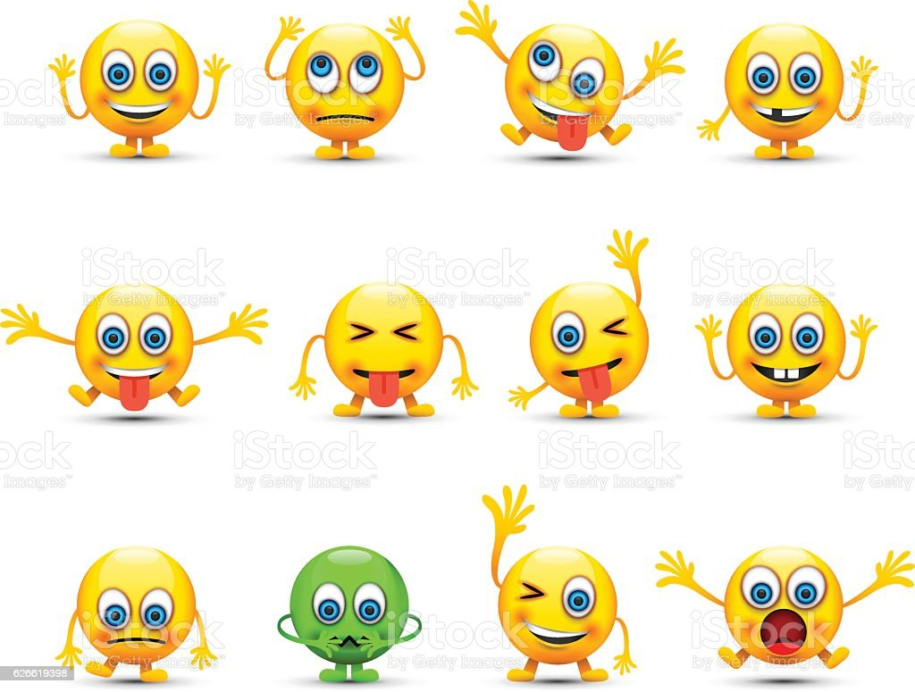 emoji set vector art illustration