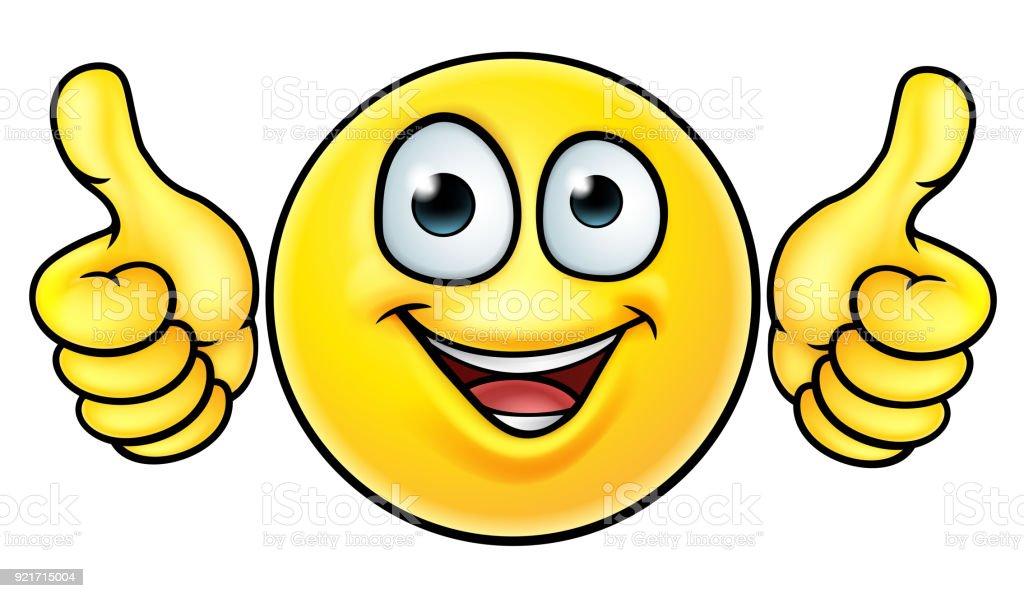 Emoji Thumbs Up Icon vector art illustration