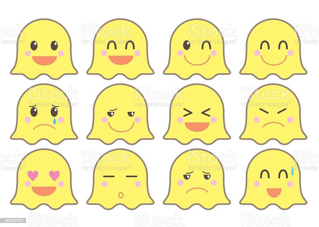 emoji vector icon set / monster version vector art illustration