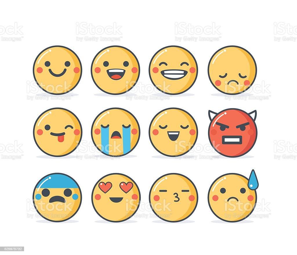 Emoji vector art illustration