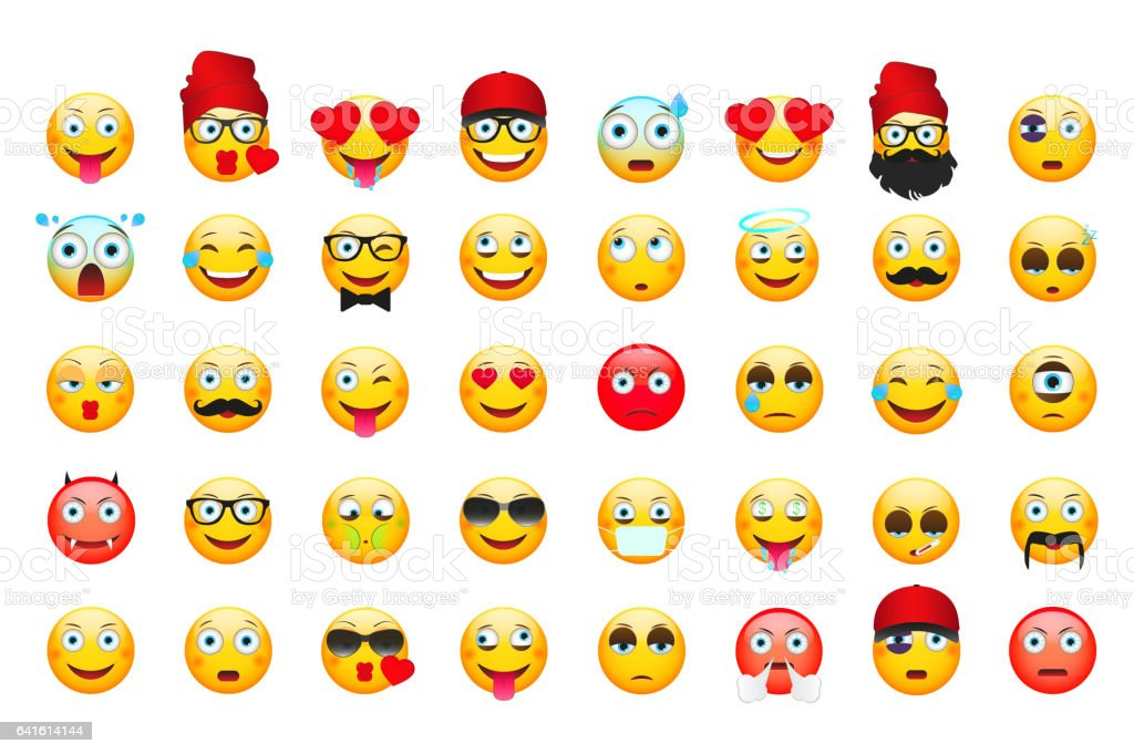 emoji vector illustration emoticons isolated on white background emoticons stock illustration