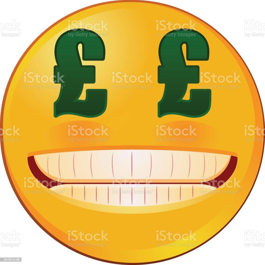 Emoji with british sterling pound sign eyes vector stock vector art emoji with british sterling pound sign eyes vector royalty free emoji with british sterling pound biocorpaavc Gallery