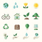 Emojis representing green energy