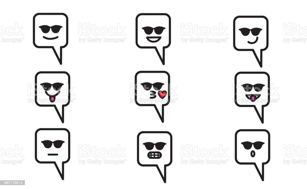 Emojis set 7 vector art illustration