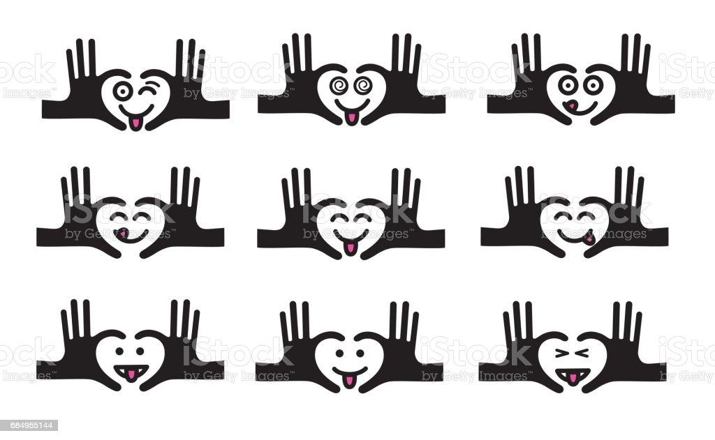 Emojis set 9 vector art illustration