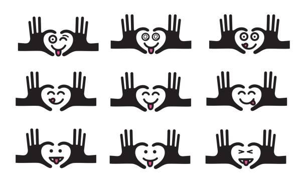 stockillustraties, clipart, cartoons en iconen met emojis reeks 9 - eetklaar