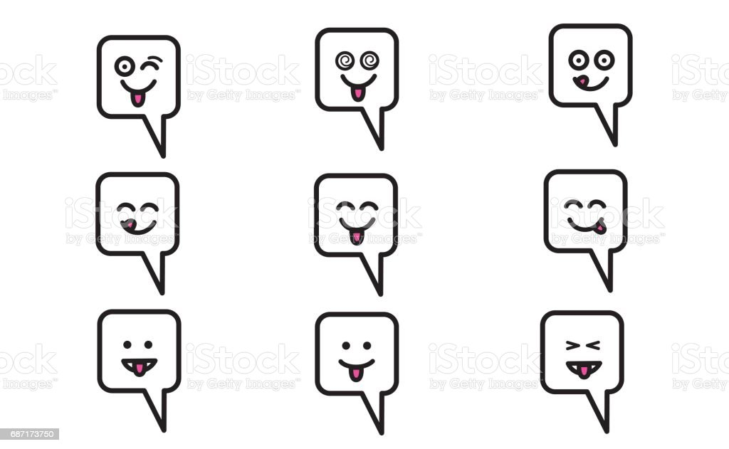 Emojis set 9 royalty-free emojis set 9 stock vector art & more images of bizarre