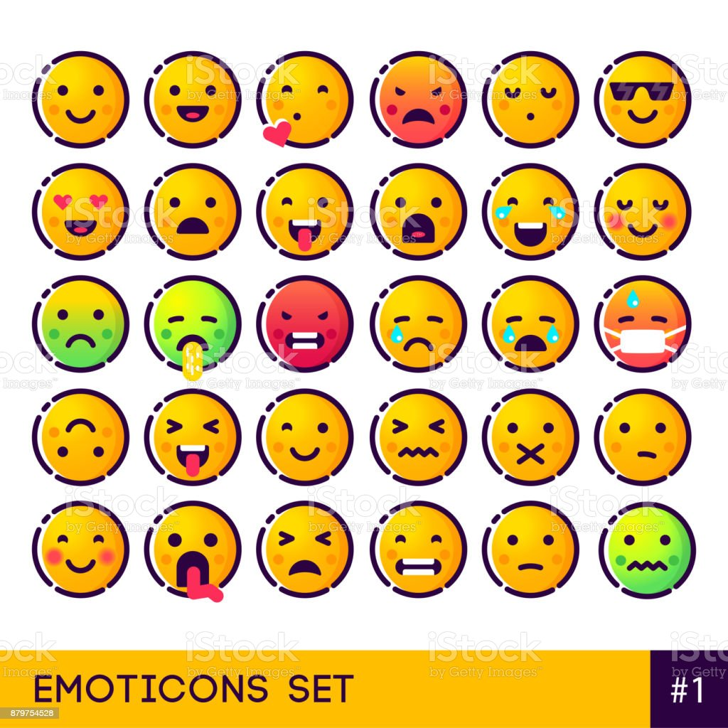 Emojiset Kopieren Stock Vektor Art Und Mehr Bilder Von Auge Istock