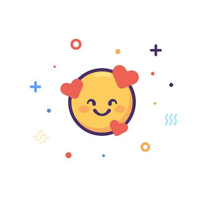 Emoticon cut out design element