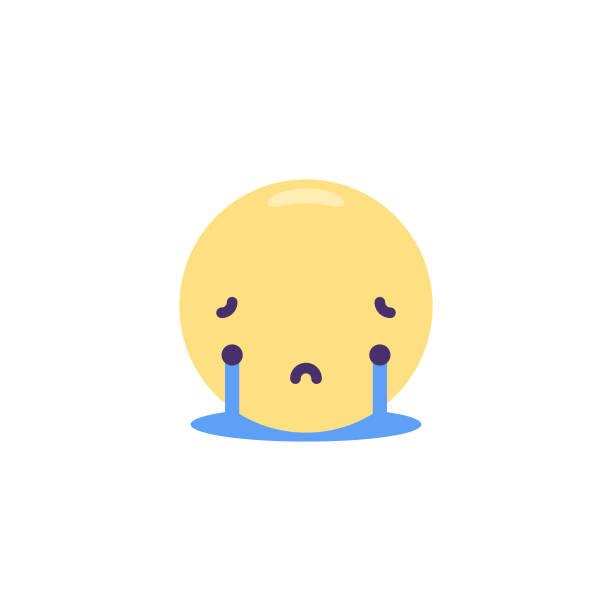 顔文字かわいいフラットデザイン - 泣く点のイラスト素材/クリップアート素材/マンガ素材/アイコン素材