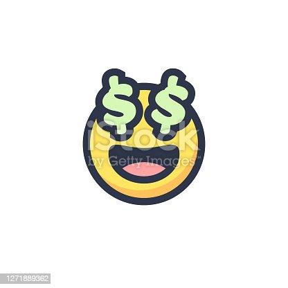 Emoticon cute flat design