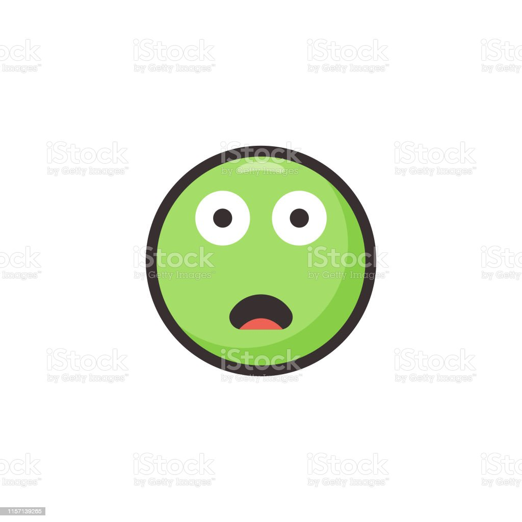 Vector illustration of a cute and colorful emoticon in line art style...