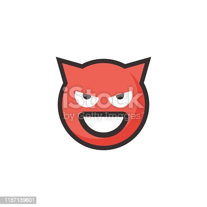 Vector illustration of a cute and colorful emoticon in line art style and flat design and colors. Perfect for design projects and social media, as well as mobile apps, online messaging apps and also as stickers for online chatting.