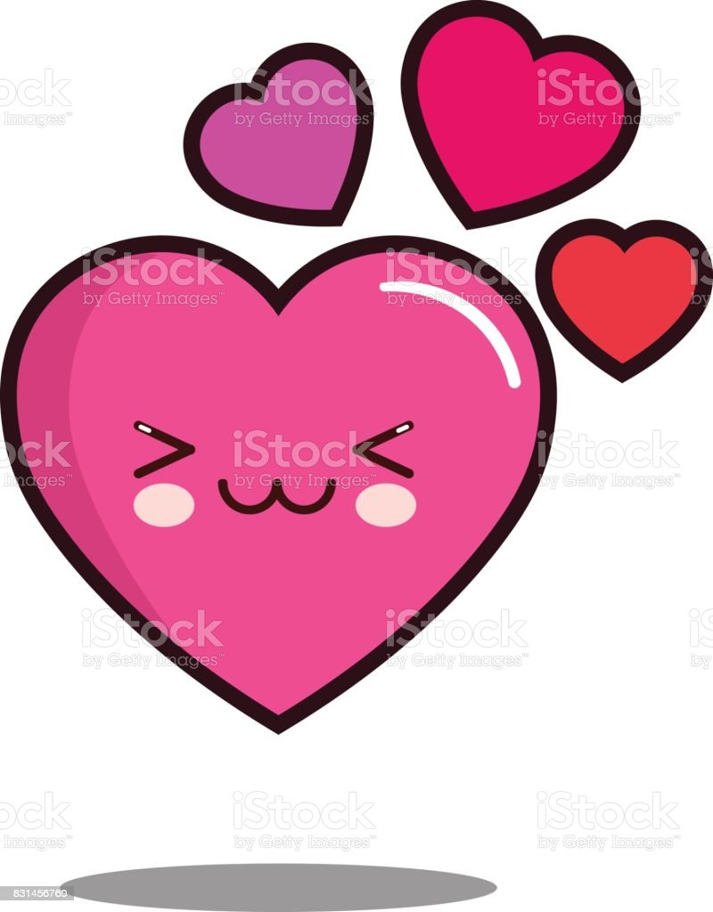 Emoticon cute love heart cartoon character icon kawaii flat design emoticon cute love heart cartoon character icon kawaii flat design vector royalty free emoticon cute buycottarizona Images