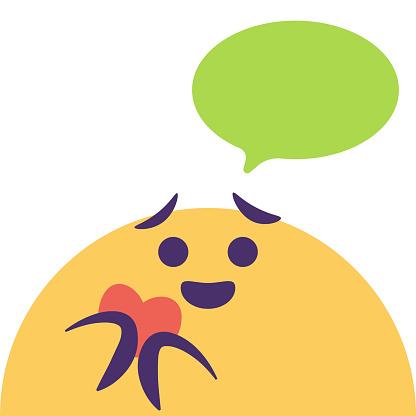 Emoticon cute online messaging design