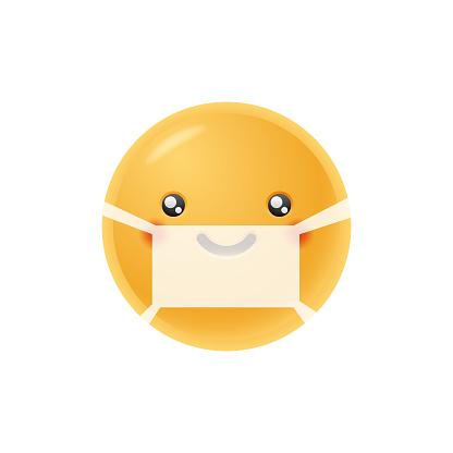 Emoticon cute protective face mask