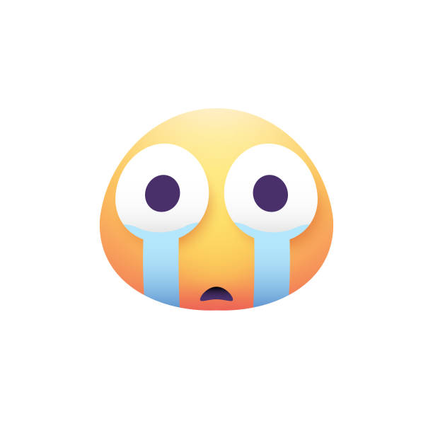 顔文字デザイン卵形リアルな色 - 泣く点のイラスト素材/クリップアート素材/マンガ素材/アイコン素材