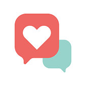 Emoticon design online messaging thought bubbles