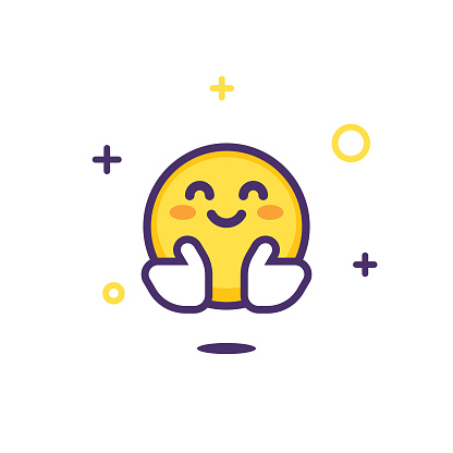 Emoticon design with sparks and stars