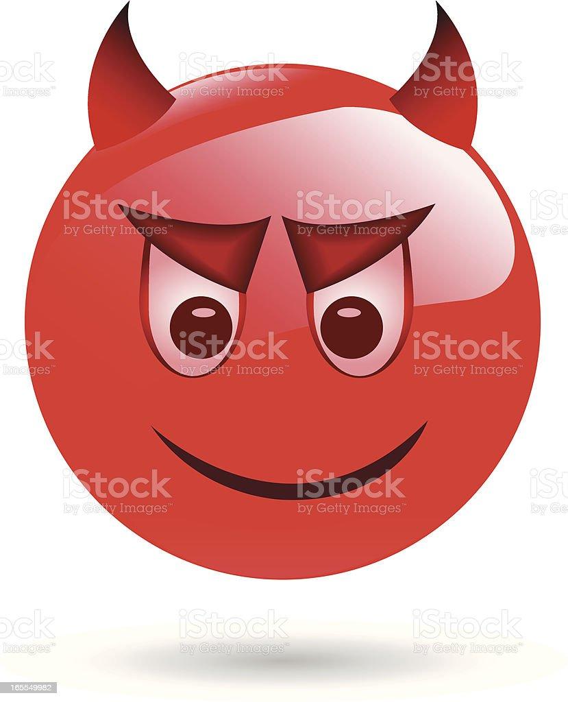 Emoticon - devil vector art illustration