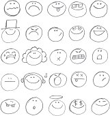 Emoticon doodles
