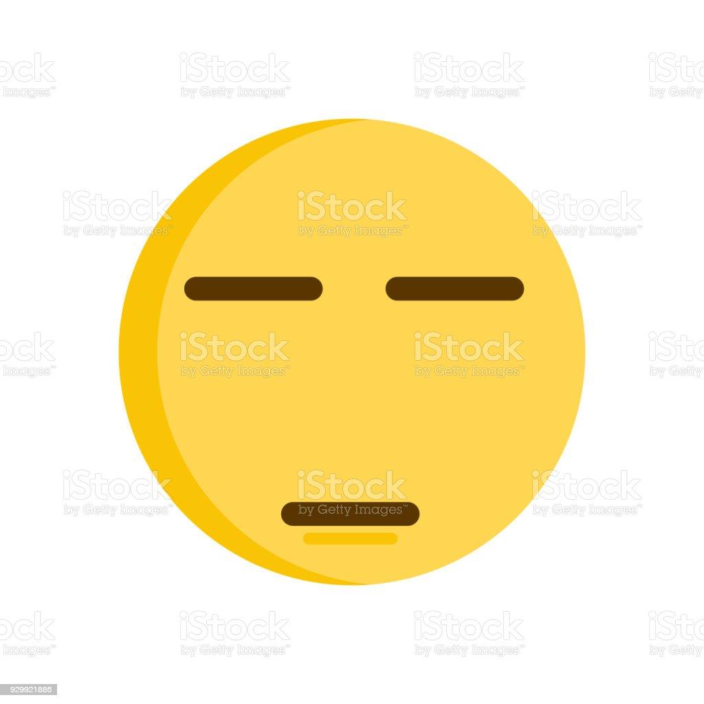 Emoticon expressing boredom or disapproval. Vector emoji smiley icon illustration vector art illustration