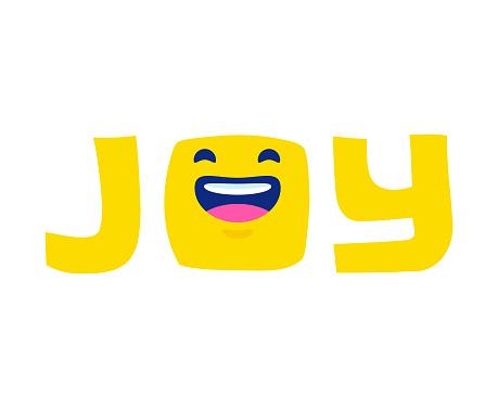 Emoticon joy concept design