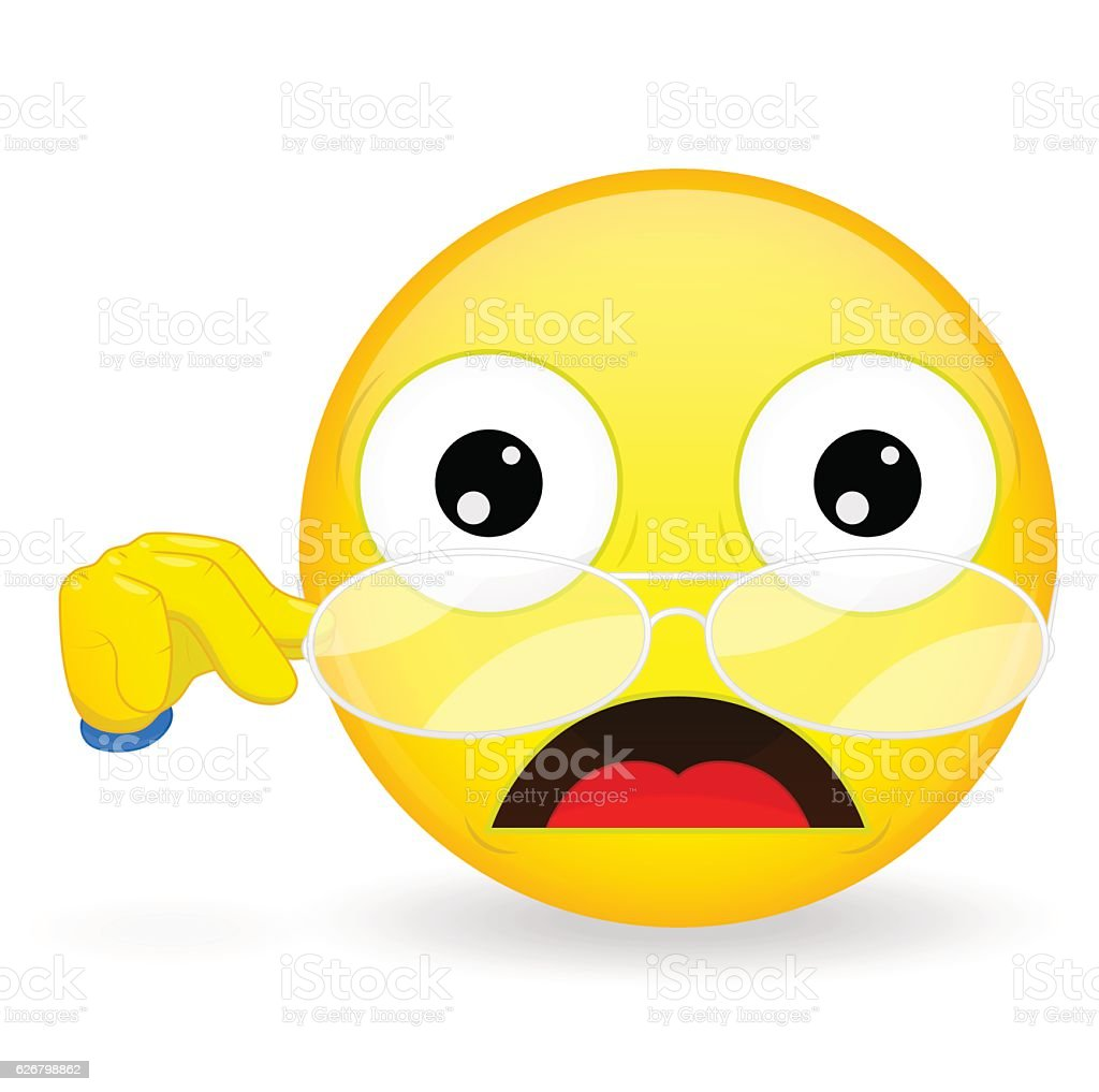 emoticon lowered his glasses teacher emoticon shock