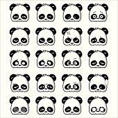 Illustration of cute panda expression.