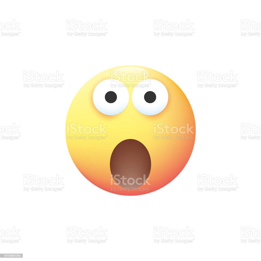 Color pastel Emoticon - ilustración de arte vectorial