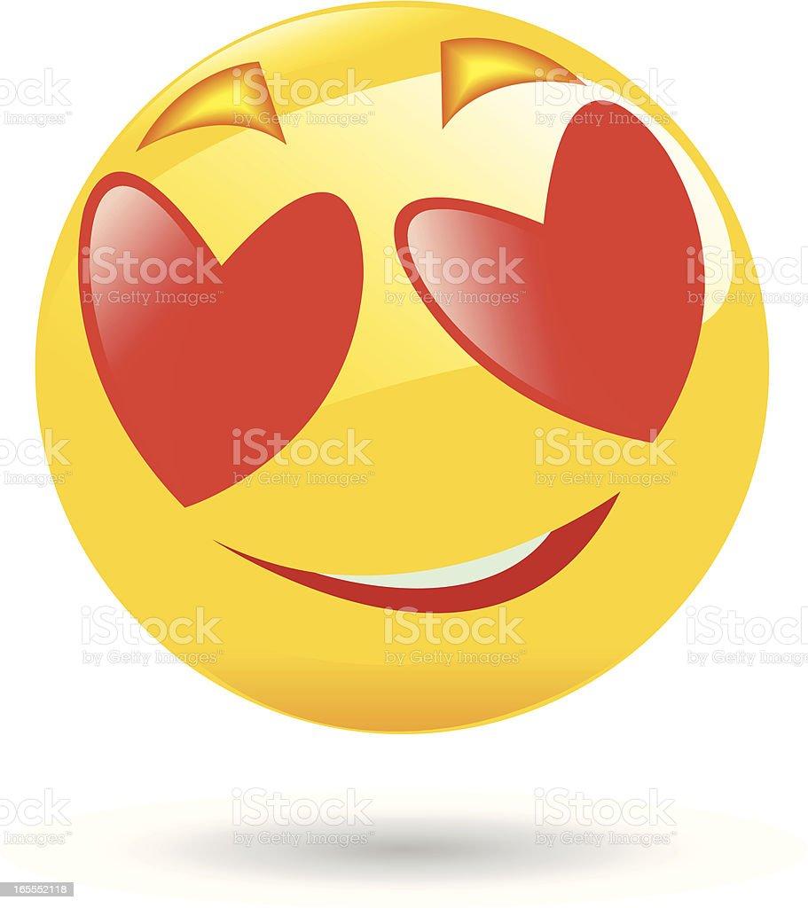 Emoticon-Romantik – Vektorgrafik