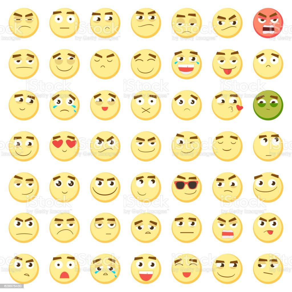 emoticon set collection of emoji 3d emoticons smiley face icons