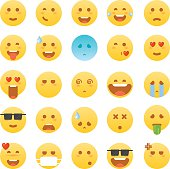 Emoticon set. Emoticon vector illustration